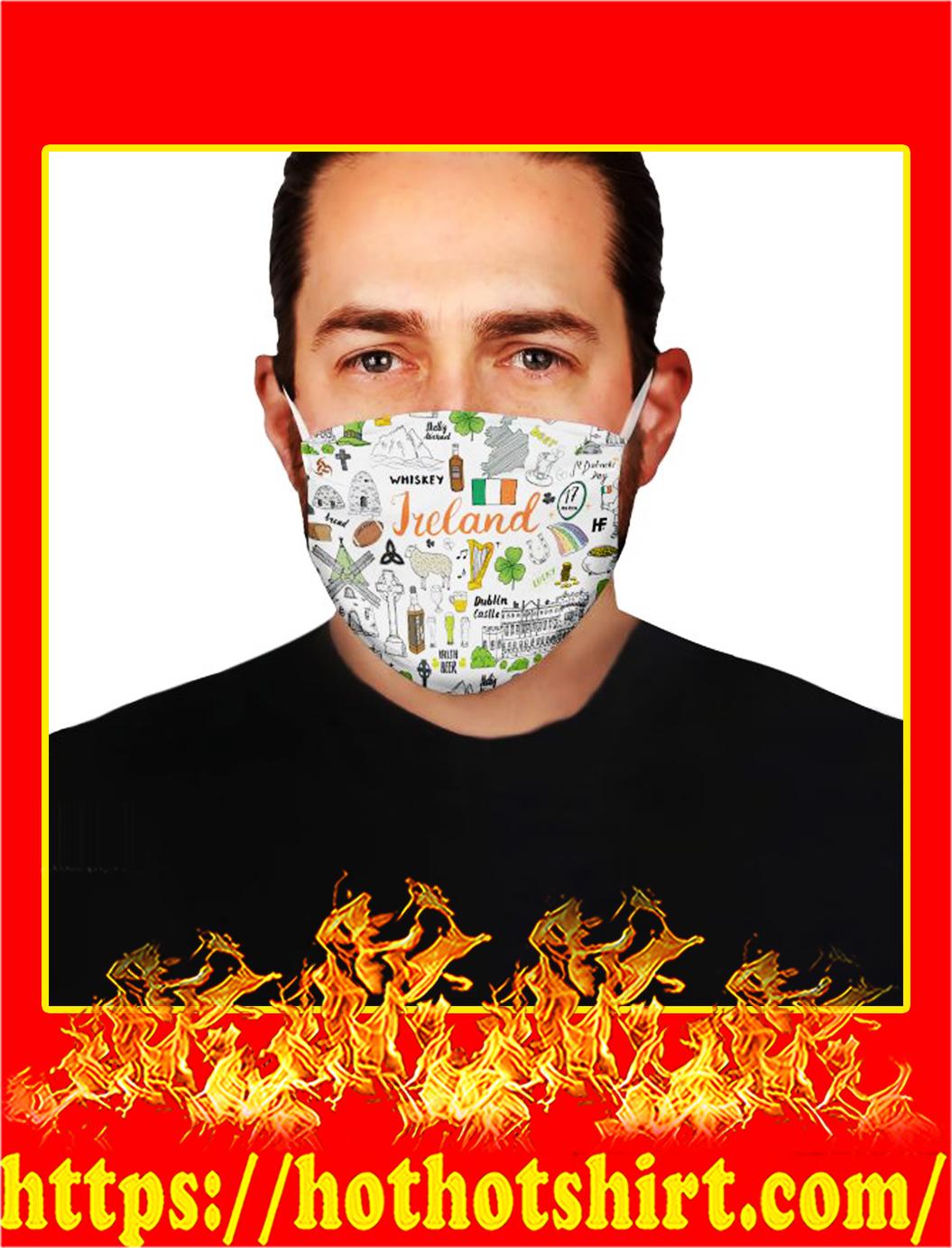 I love ireland doodle face mask- pic 1
