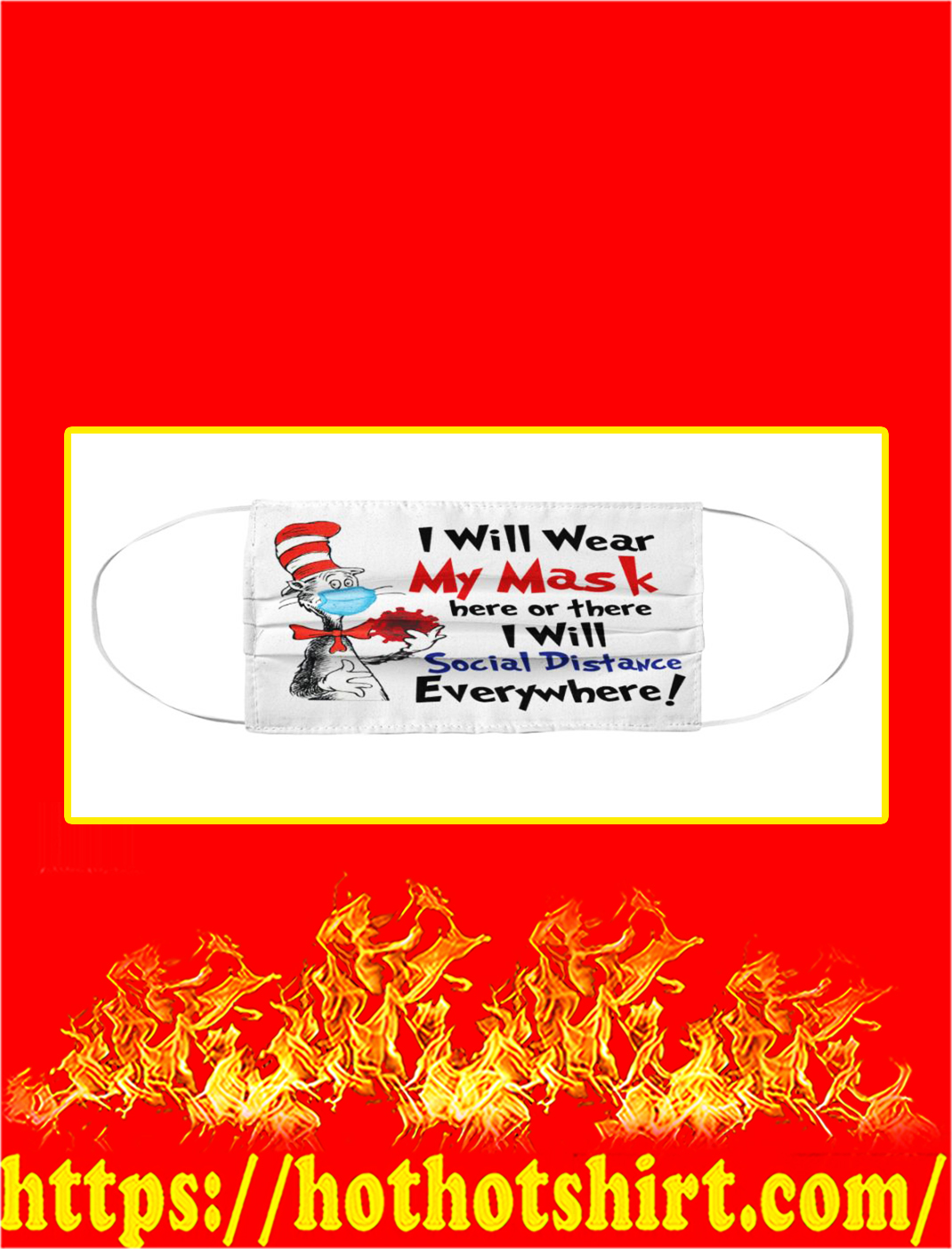 I will wear my mask dr seuss cloth face mask- pic 1