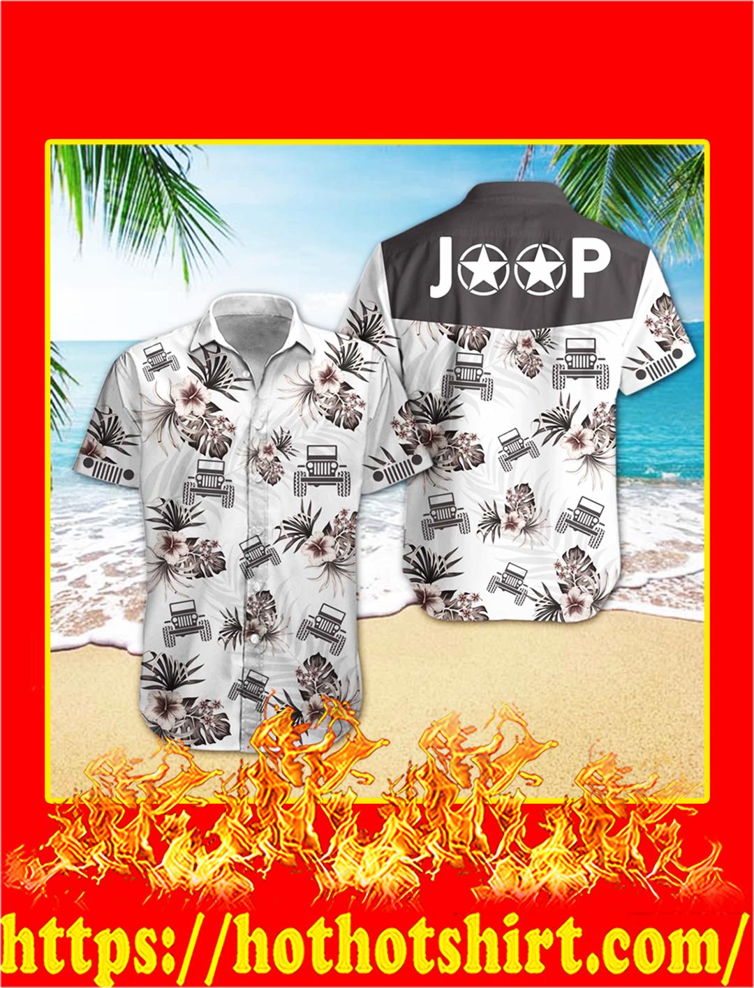 Jeep hibiscus hawaiian shirt - L