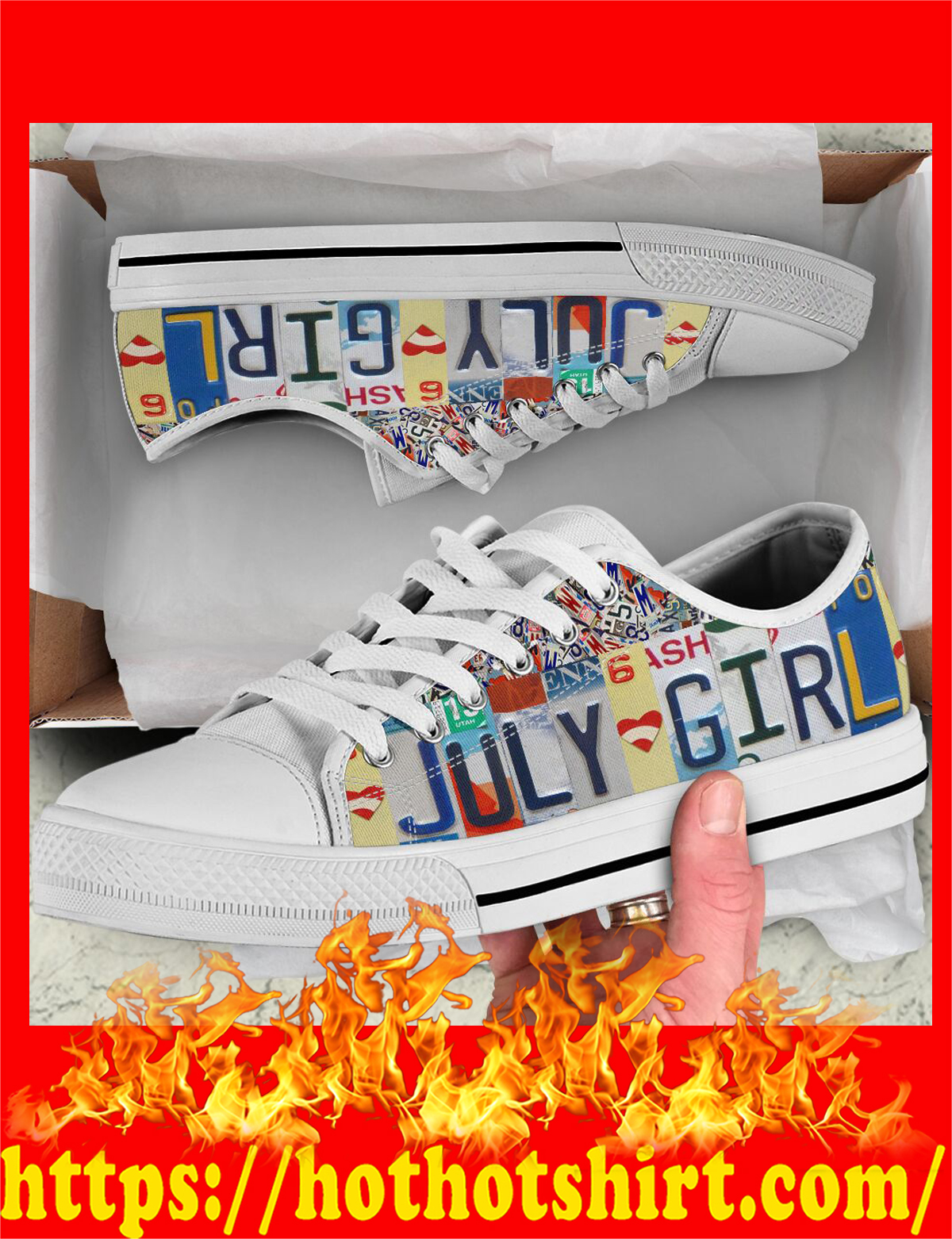 July girl low top shoes