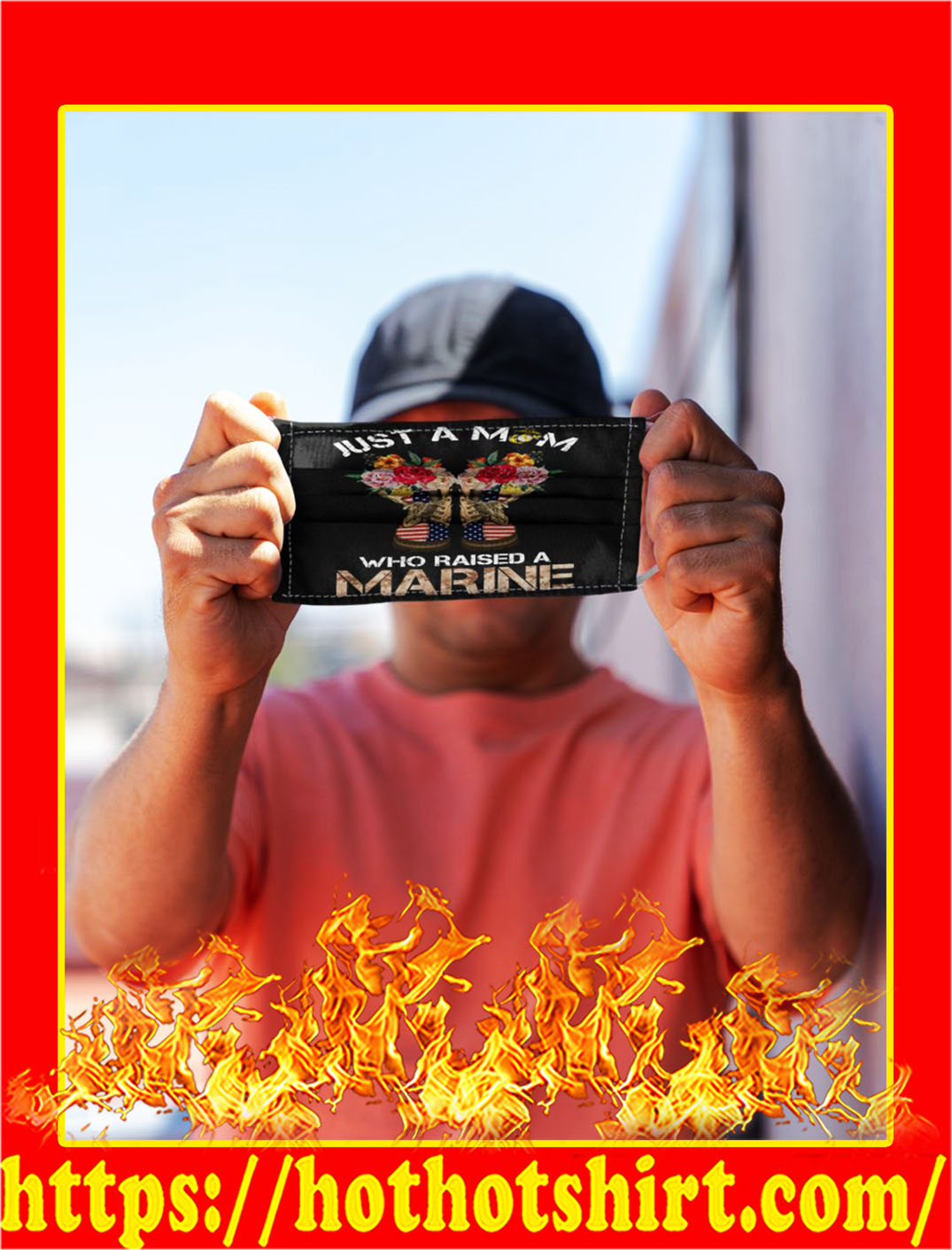Just a mom who raised a marine face mask- pic 1