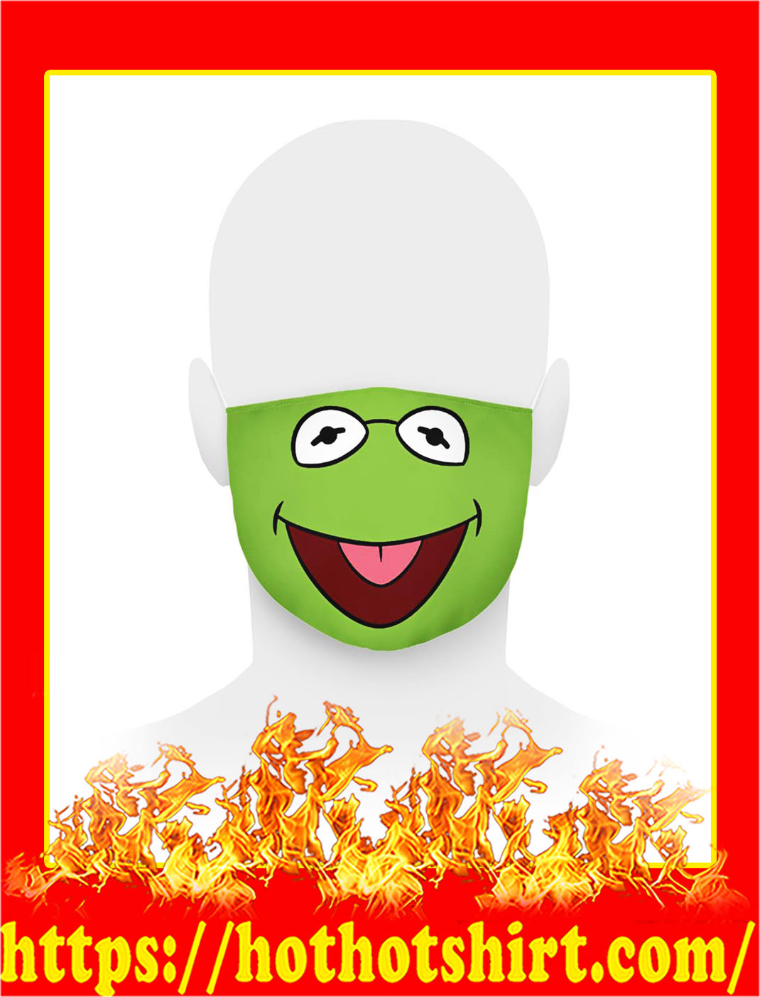 Kermit the frog face mask- pic 1