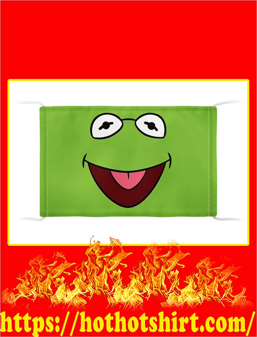 Kermit the frog face mask