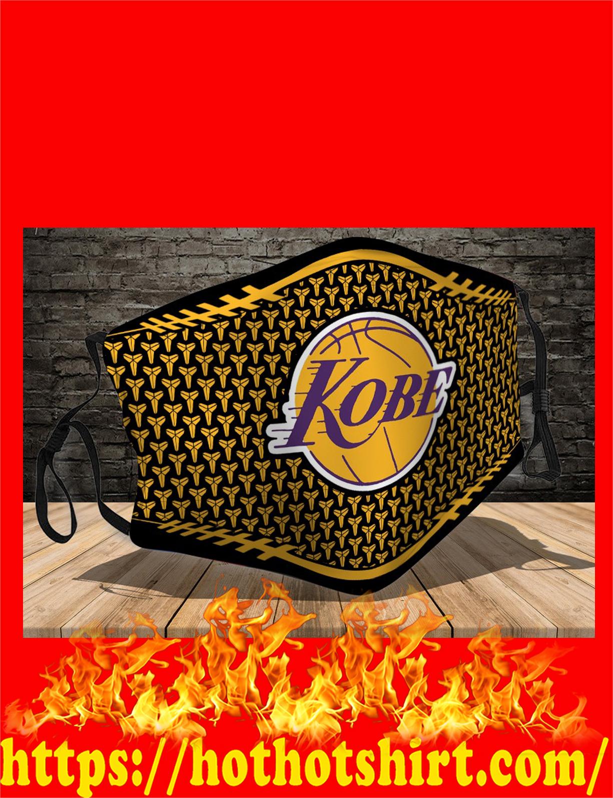 Kobe bryant logo face mask - detail