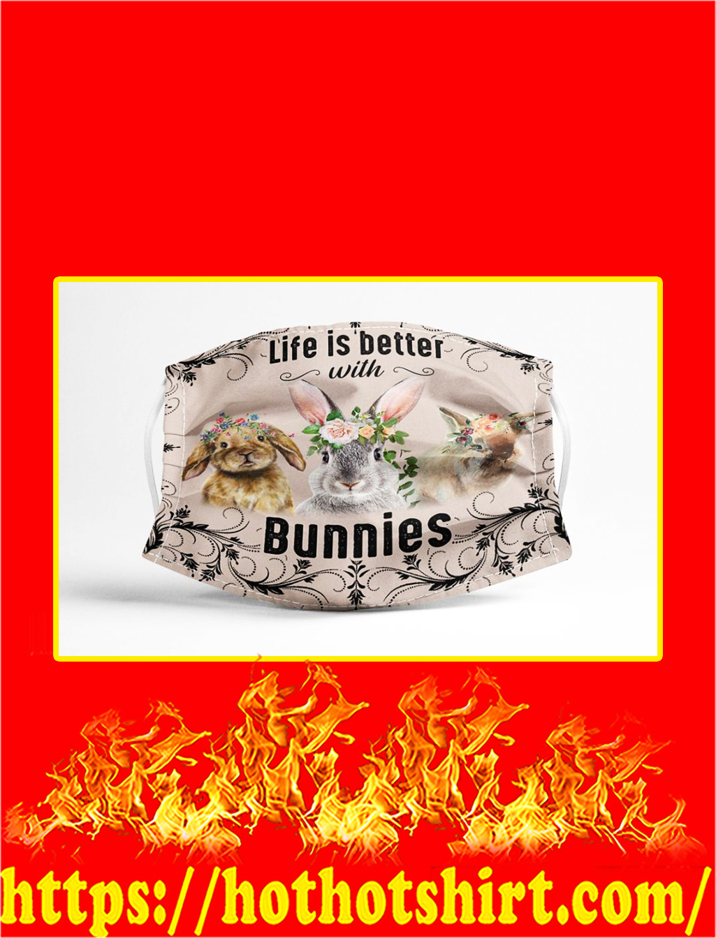 Life is better with bunnies face mask - pic 1