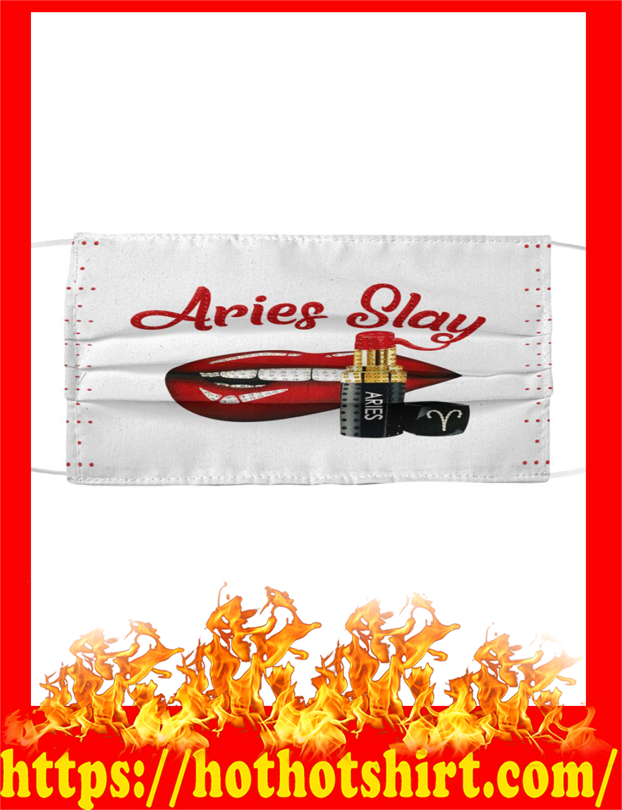 Lips aries slay face mask - detail