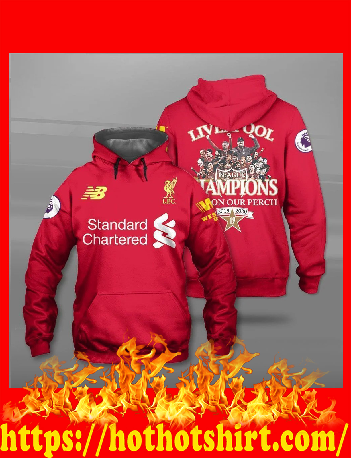 Liverpool champions back on our perch all over print 3d hoodie