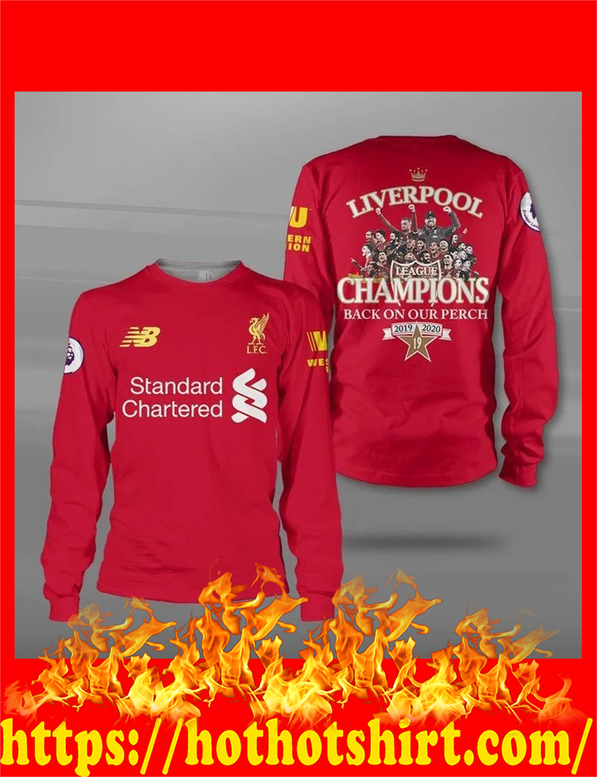 Liverpool champions back on our perch all over print 3d sweatshirt