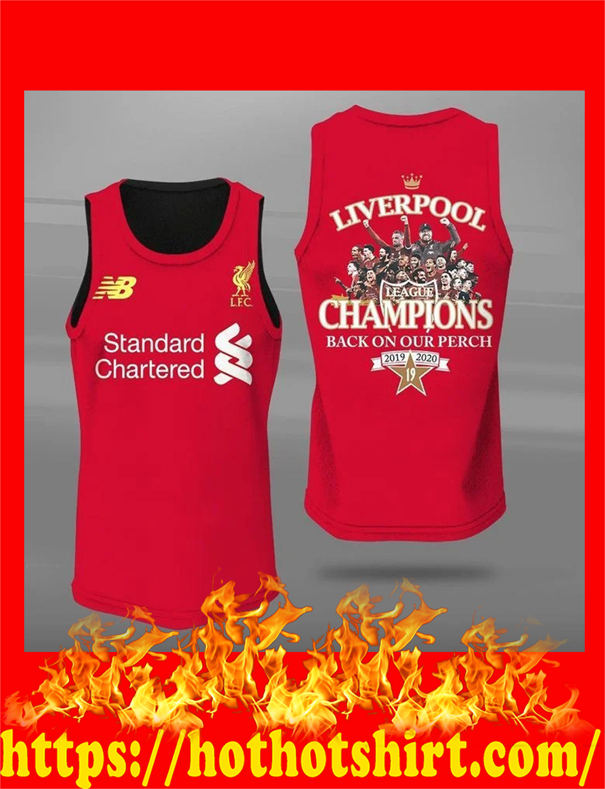Liverpool champions back on our perch all over print 3d tank top