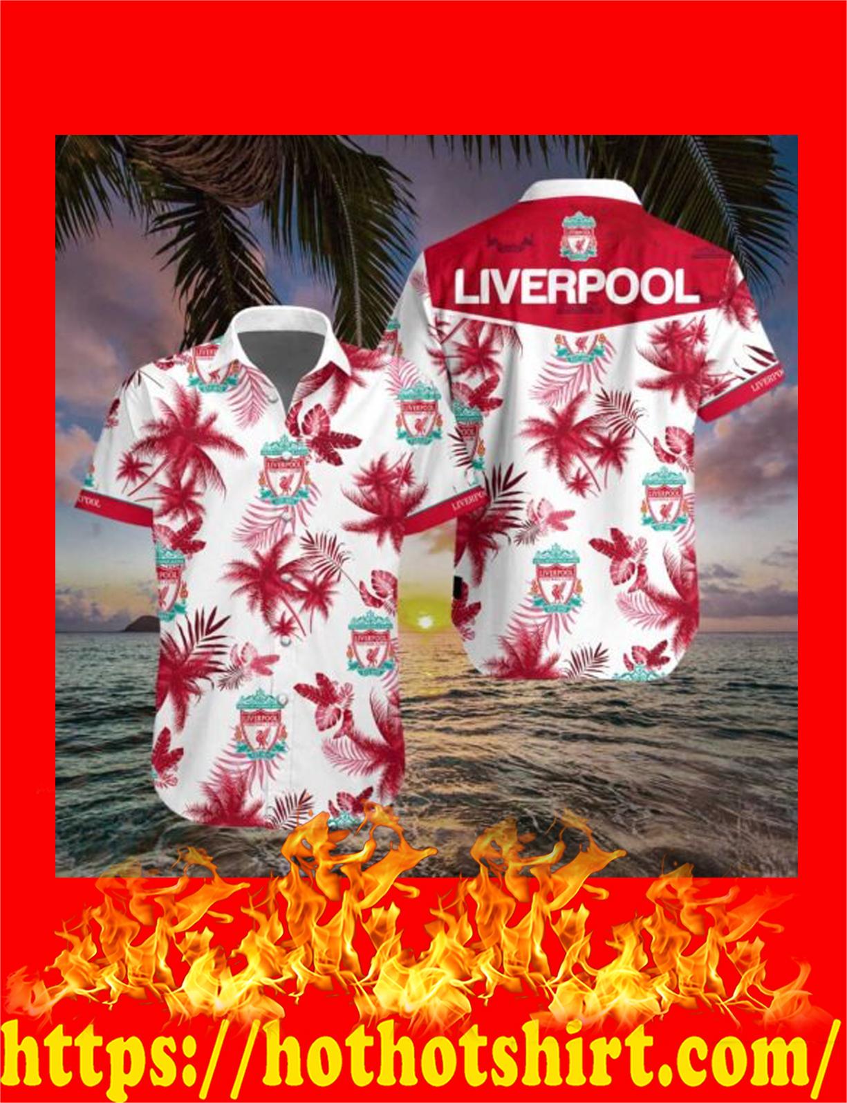 Liverpool football club hawaiian shirt 3d - detail
