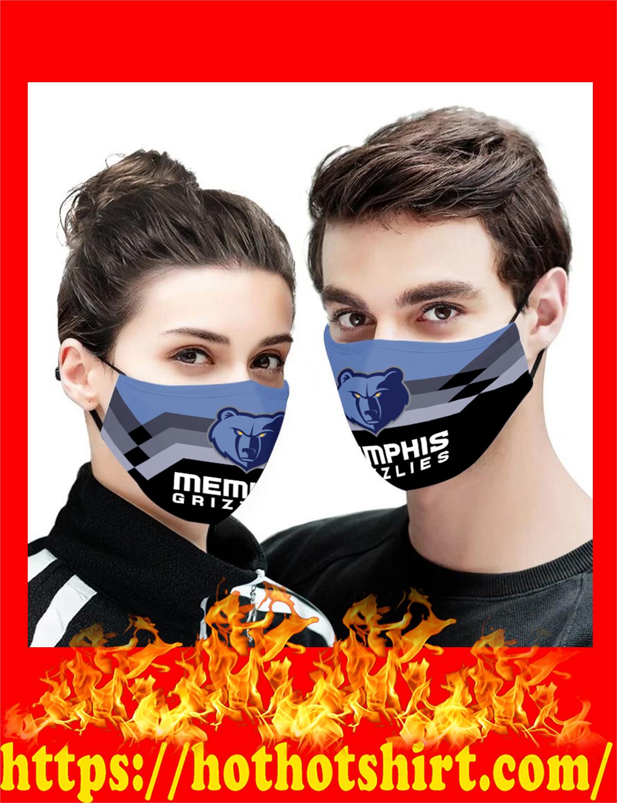 Memphis Grizzlies NBA face mask - detail