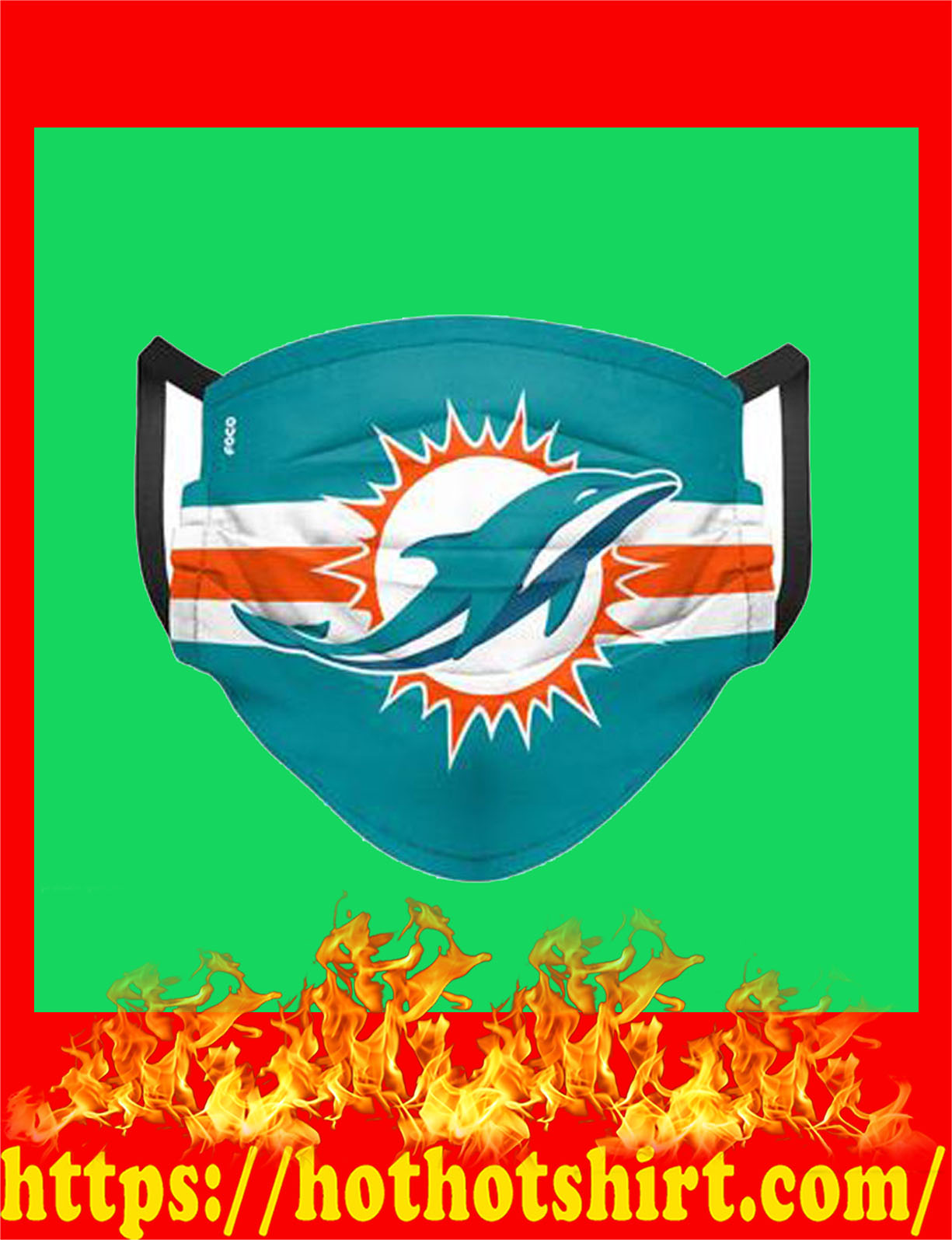 Miami dolphins nfl cloth mask - detail
