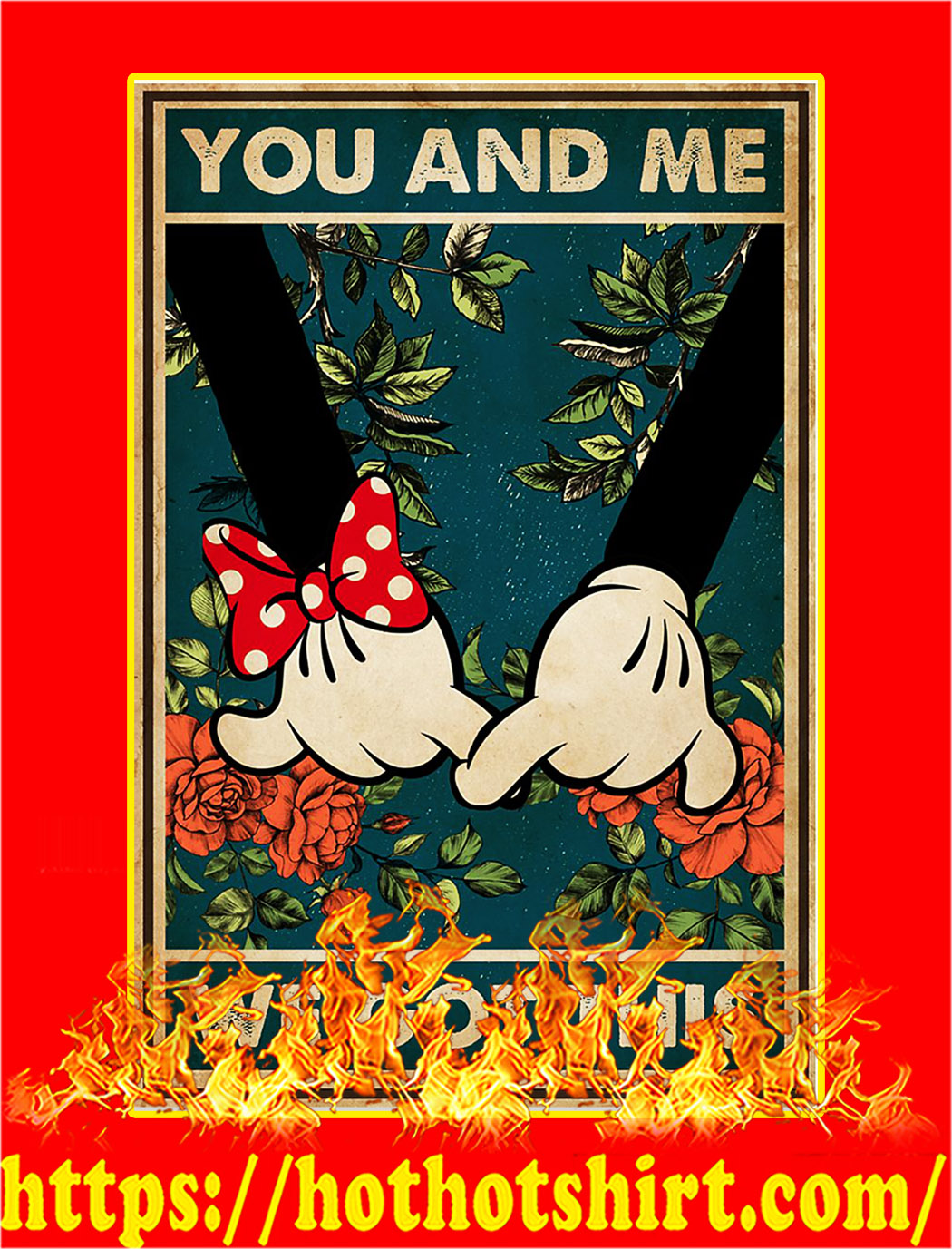 Mickey family you and me we got this poster - A1