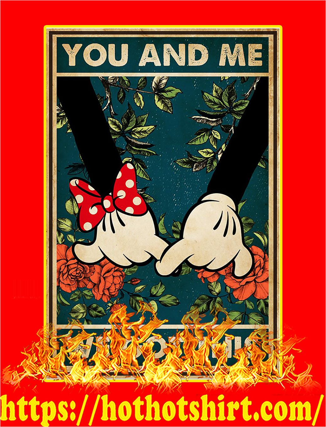 Mickey family you and me we got this poster - A2