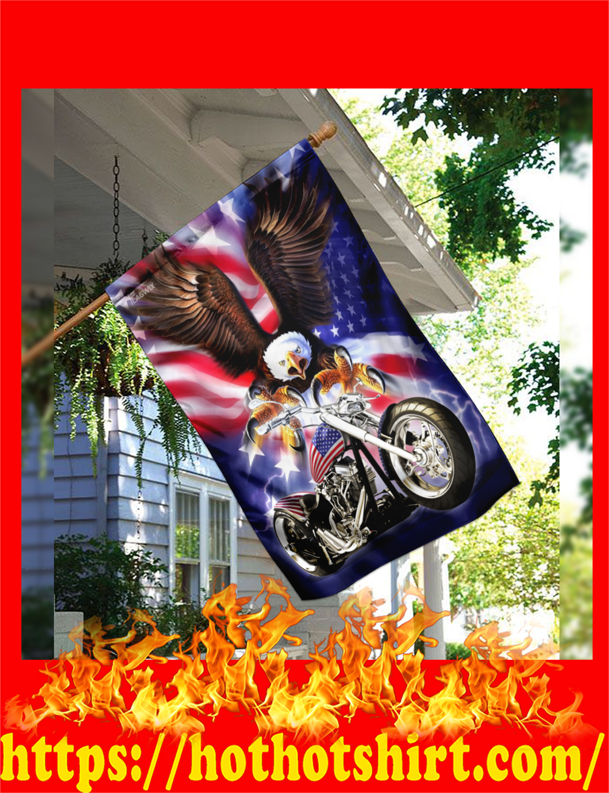Motorcyle biker american eagle flag - pic 1