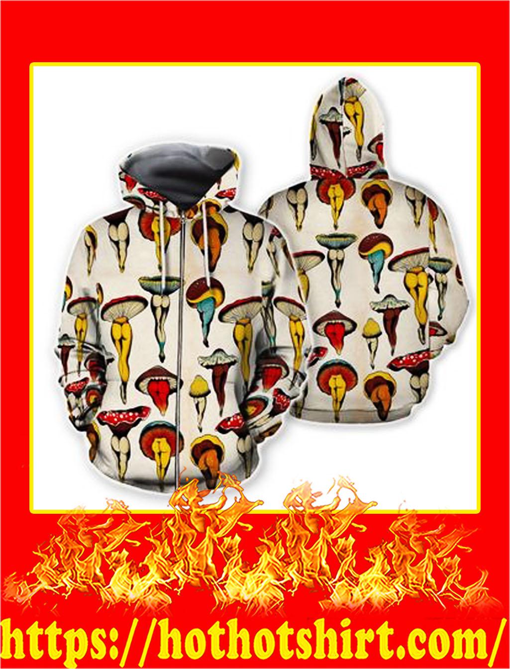 Mushroom body hawaiian zip hoodie