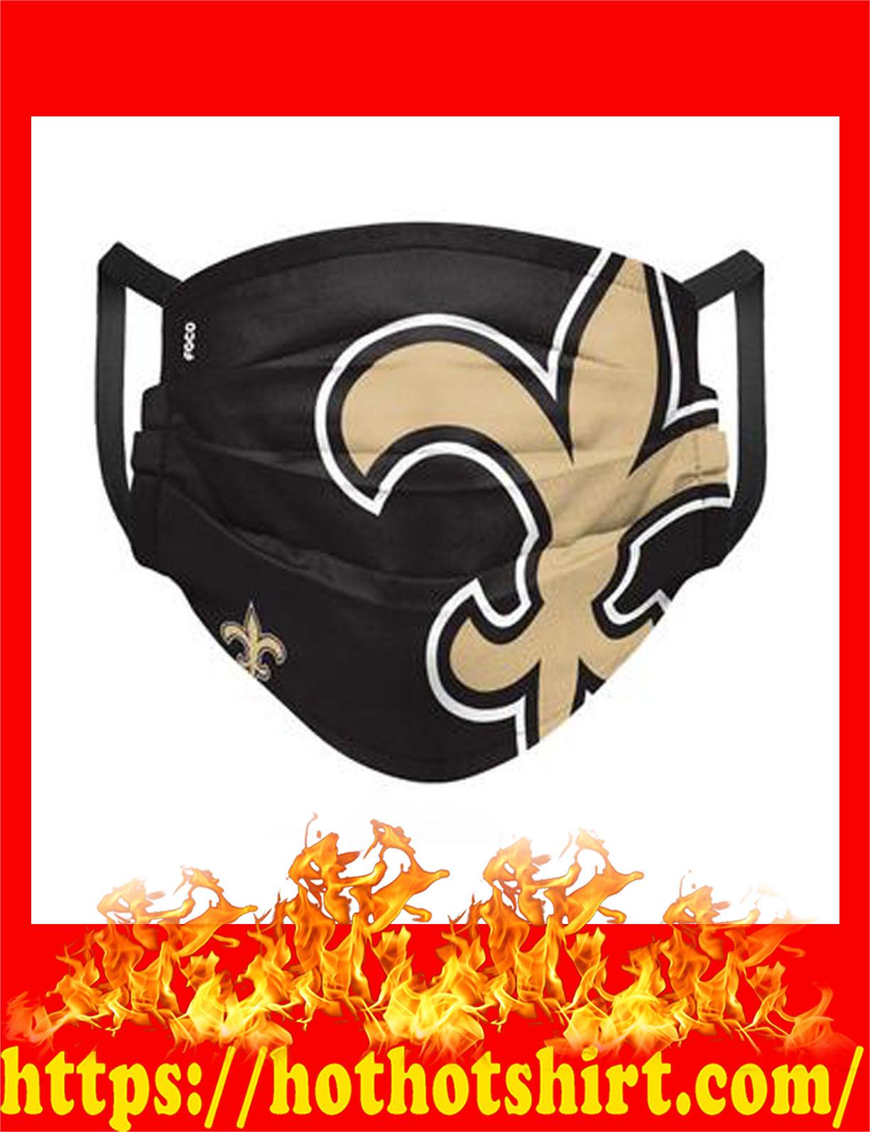 New orleans saints nfl cloth mask - detail