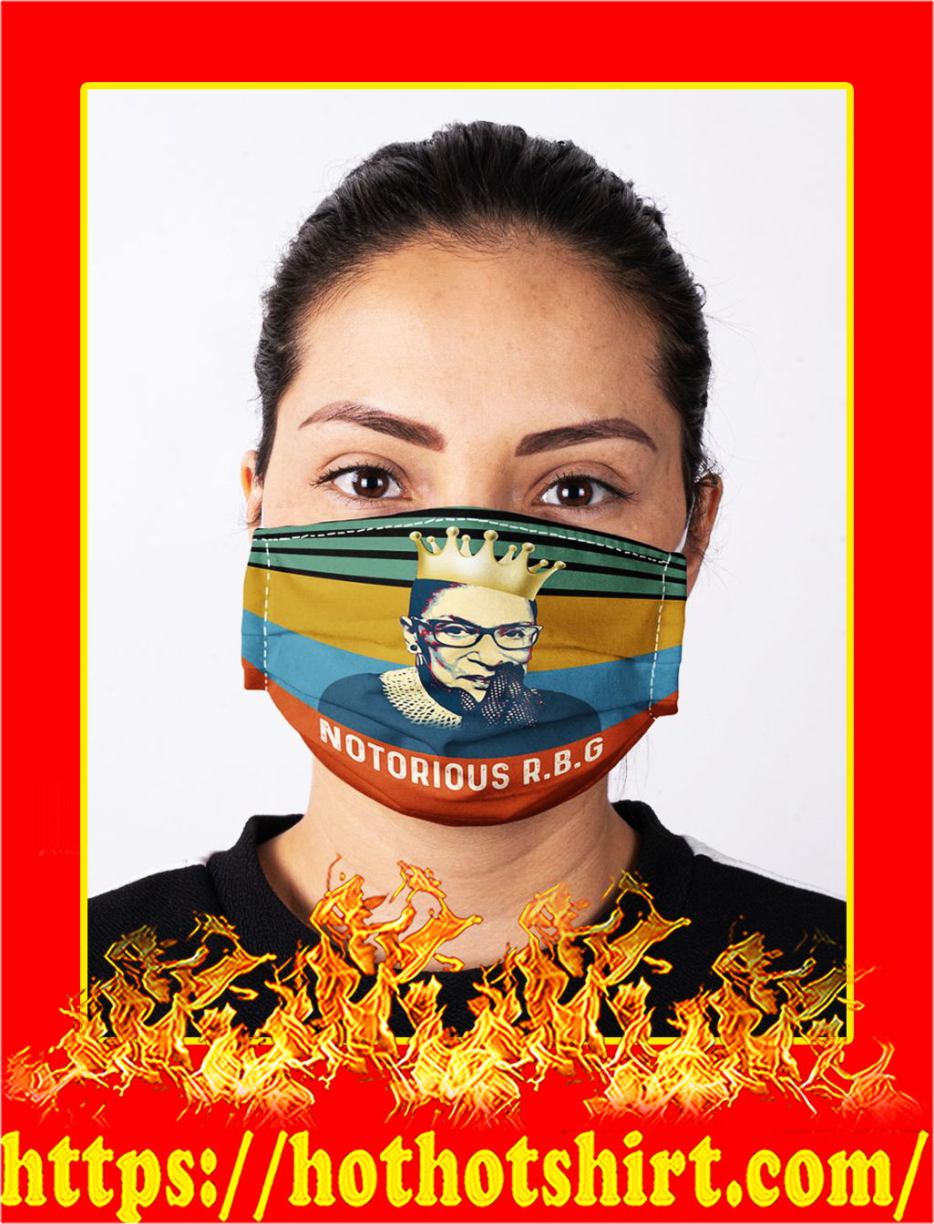 Notorious rbg vintage face mask- pic 1