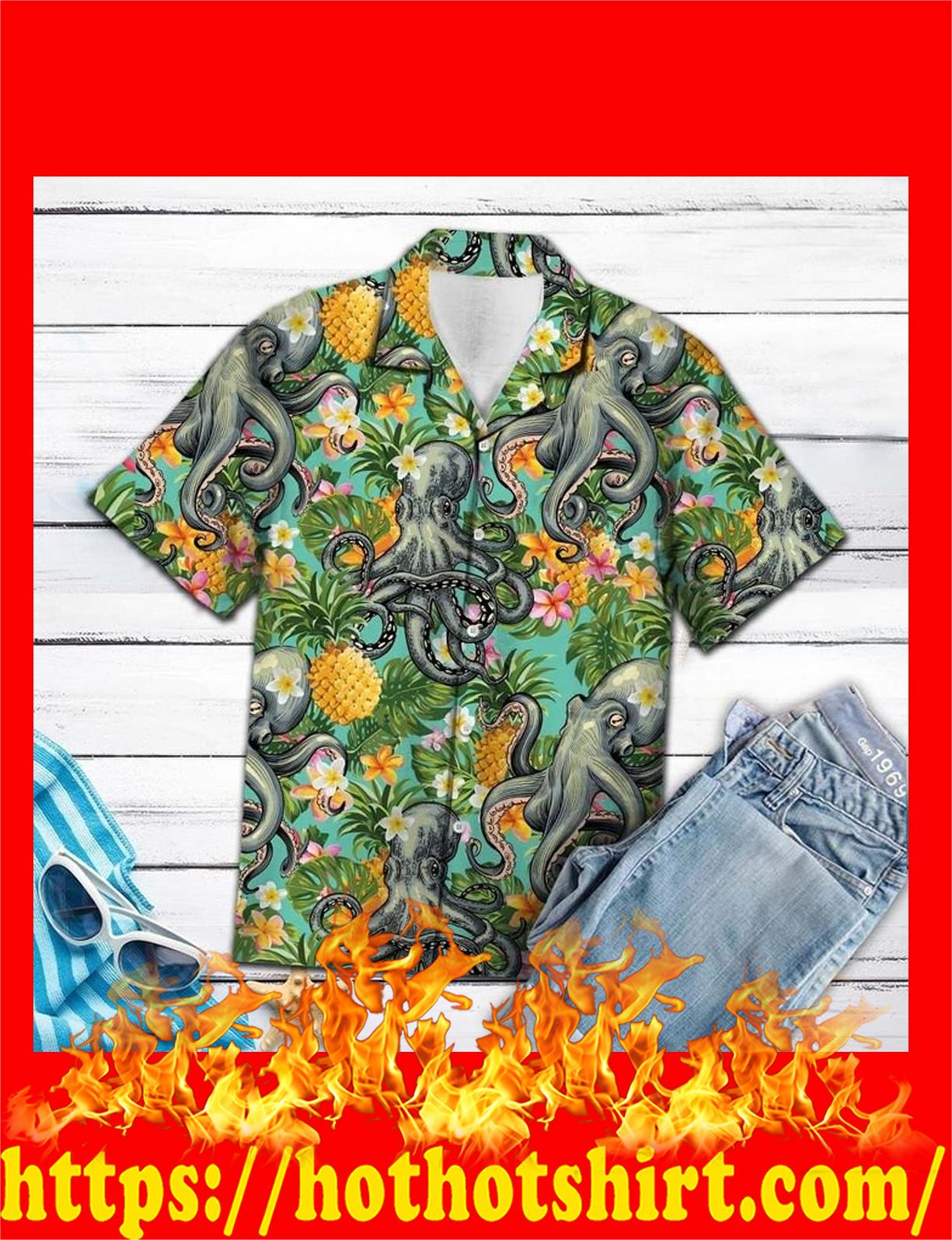 Octopus pineaaple tropical hawaiian shirt