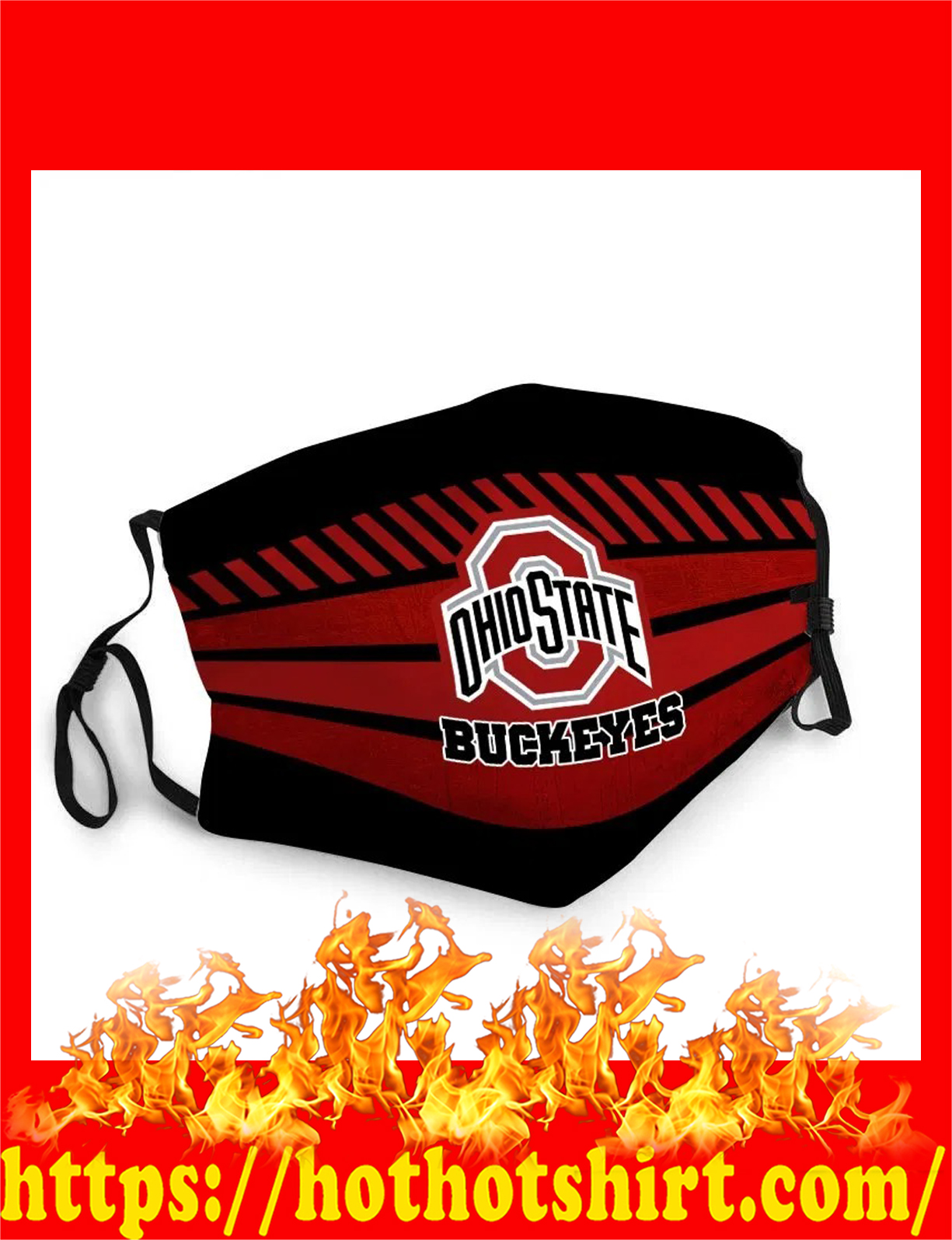 Ohio state buckeyes cloth mask - detail