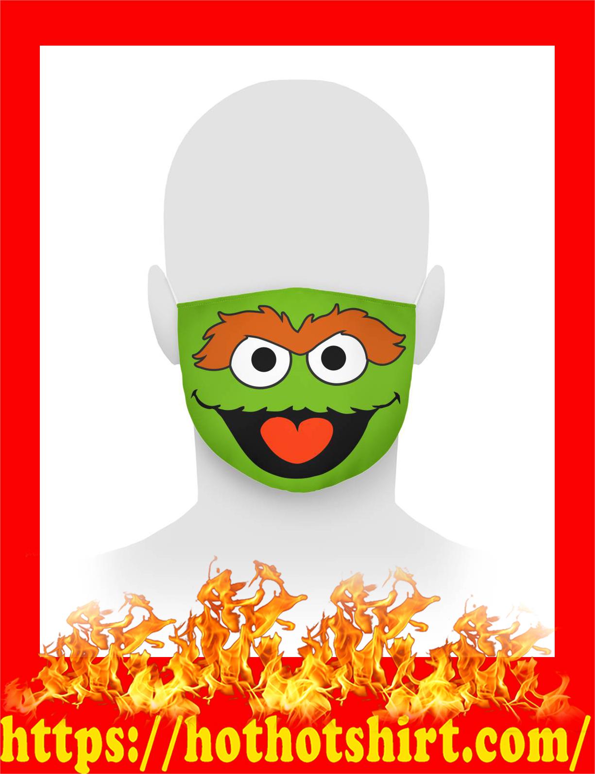 Oscar the grouch face mask - detail
