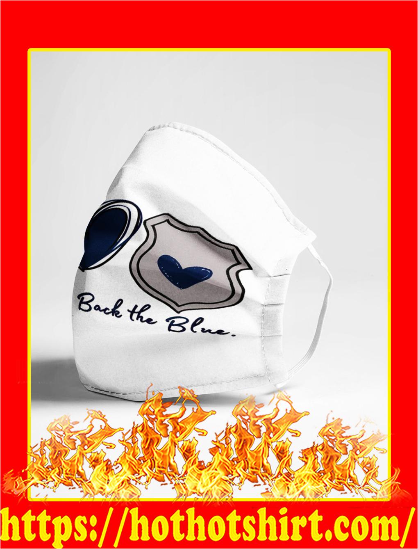 Peace love back the blue cloth mask- pic 1