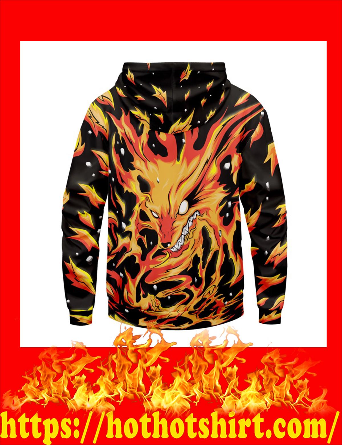 Raging kurama unisex pullover hoodie - back