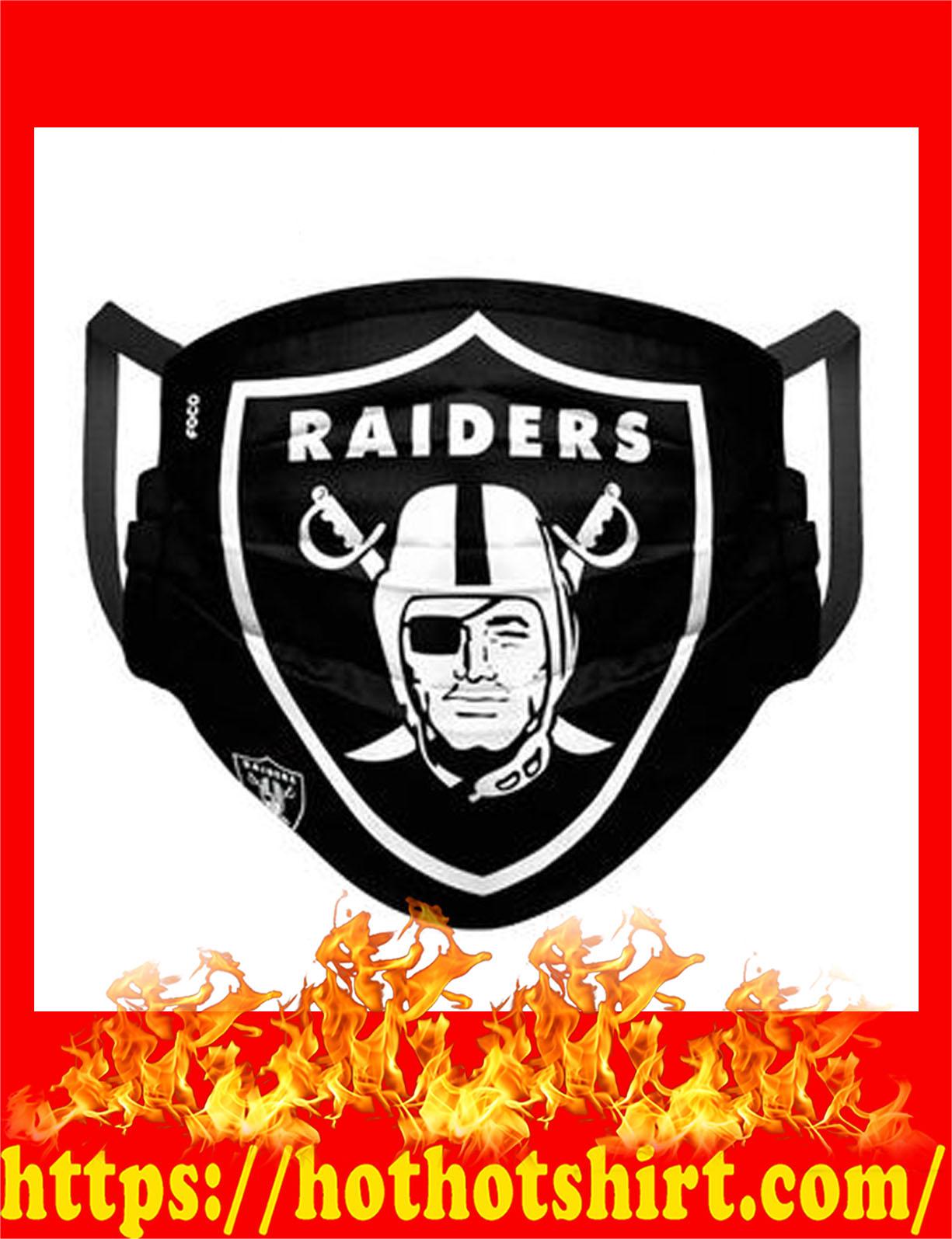 Raiders nfl cloth mask - detail