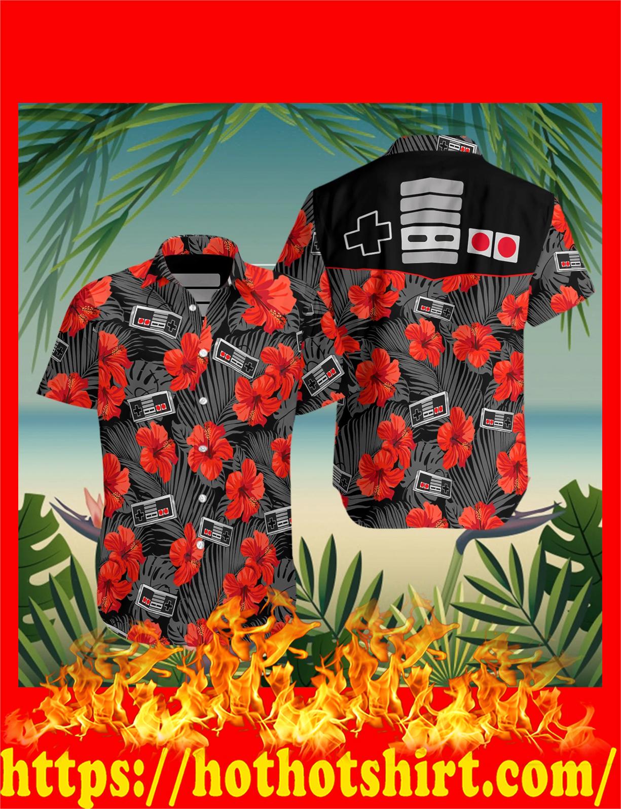Retro gamepad game hawaiian shirt and beach short