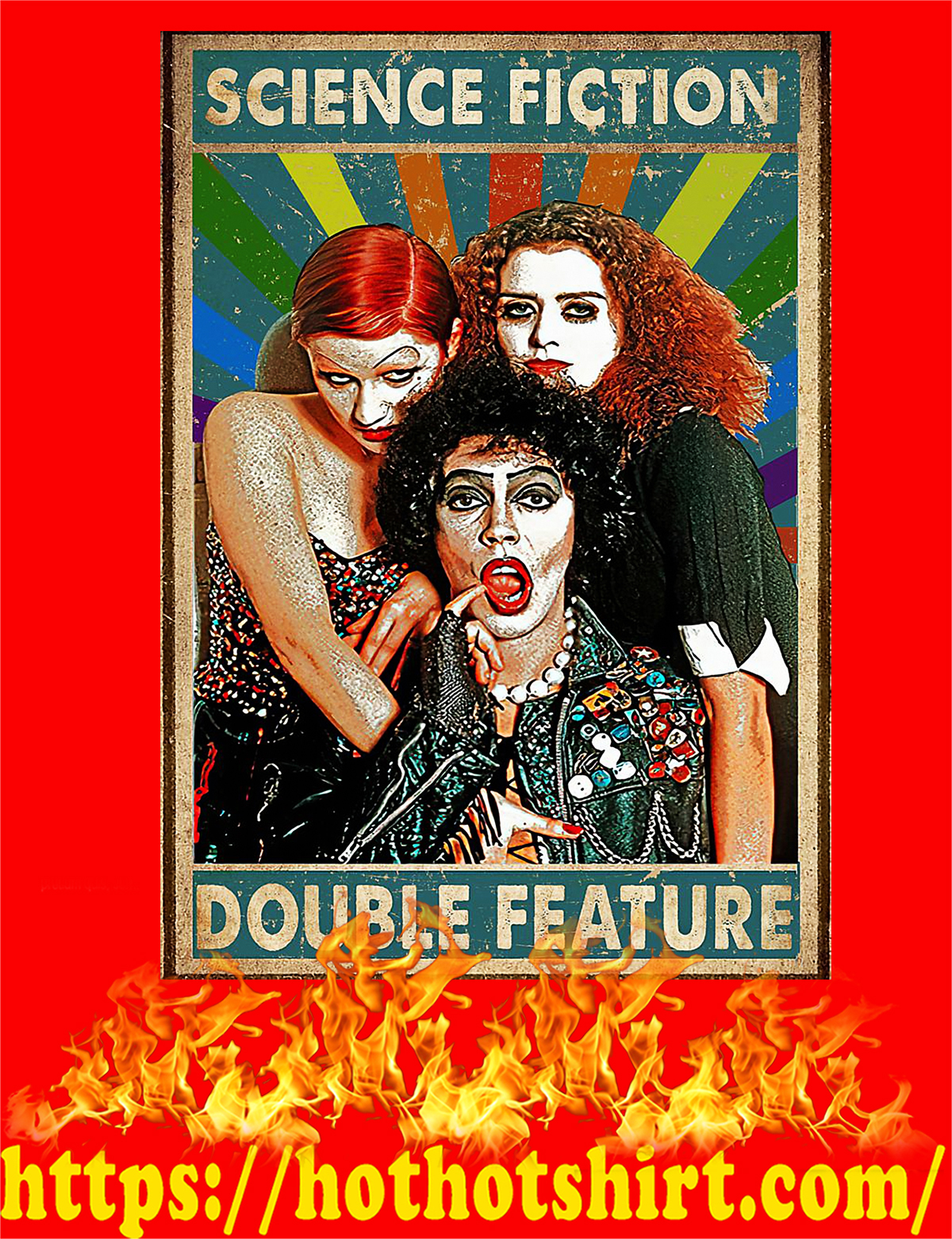 Rocky horror science fiction double feature poster - A4