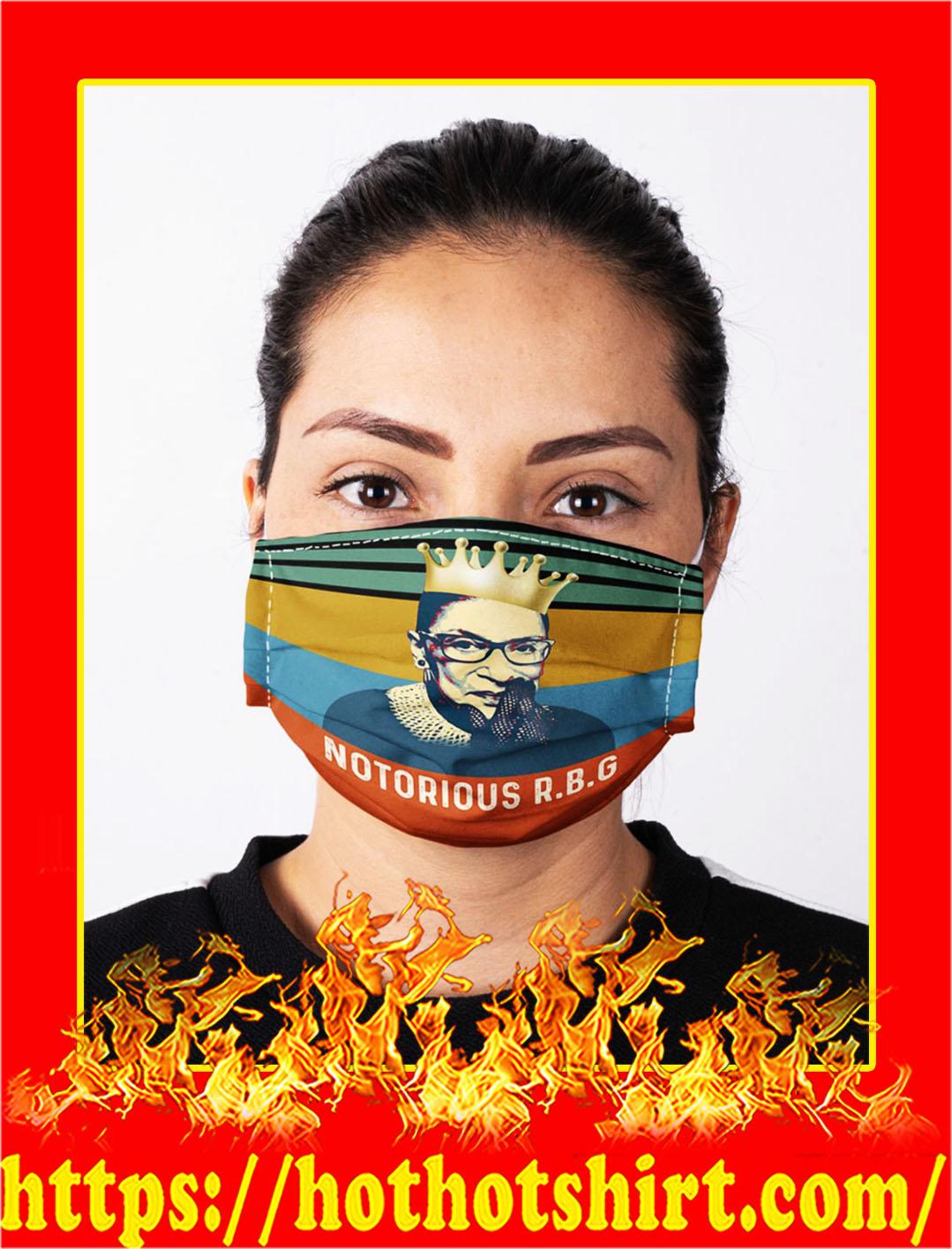 Ruth bader ginsburg notorious rbg face mask- pic 1