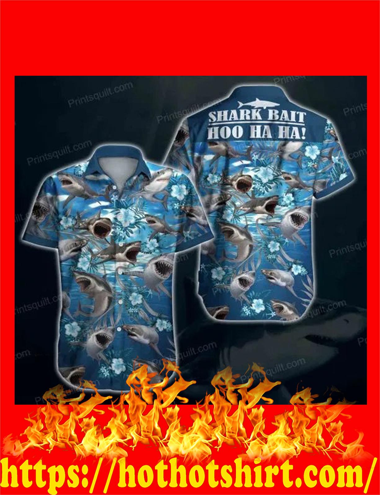 Shark bait hoo ha ha hawaiaan shirt - detail