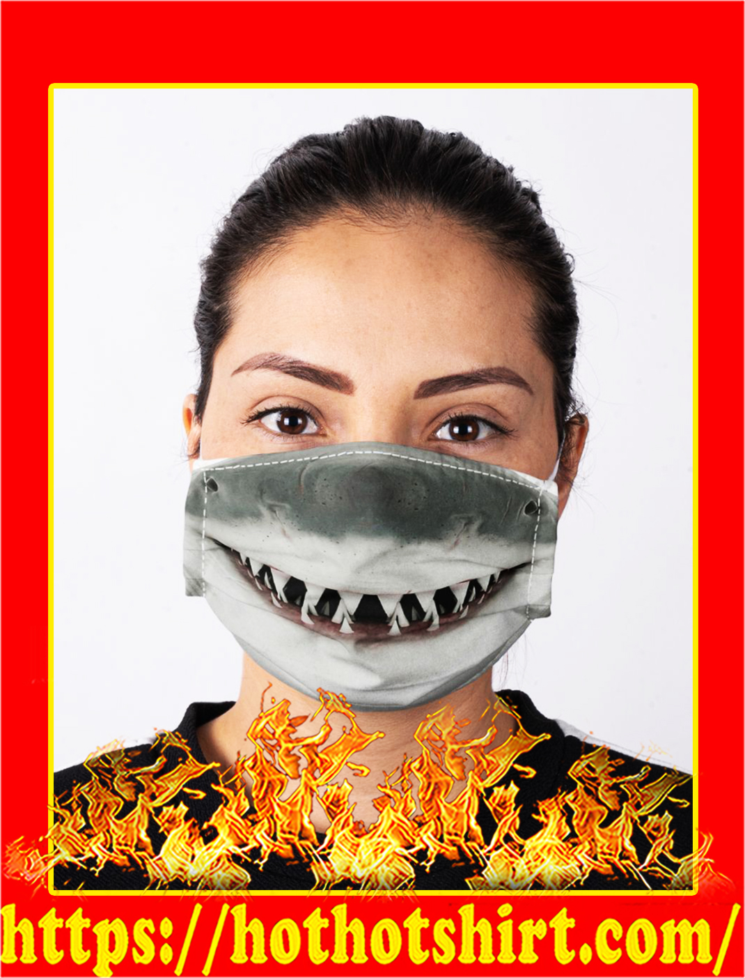 Shark lover face mask- pic 1
