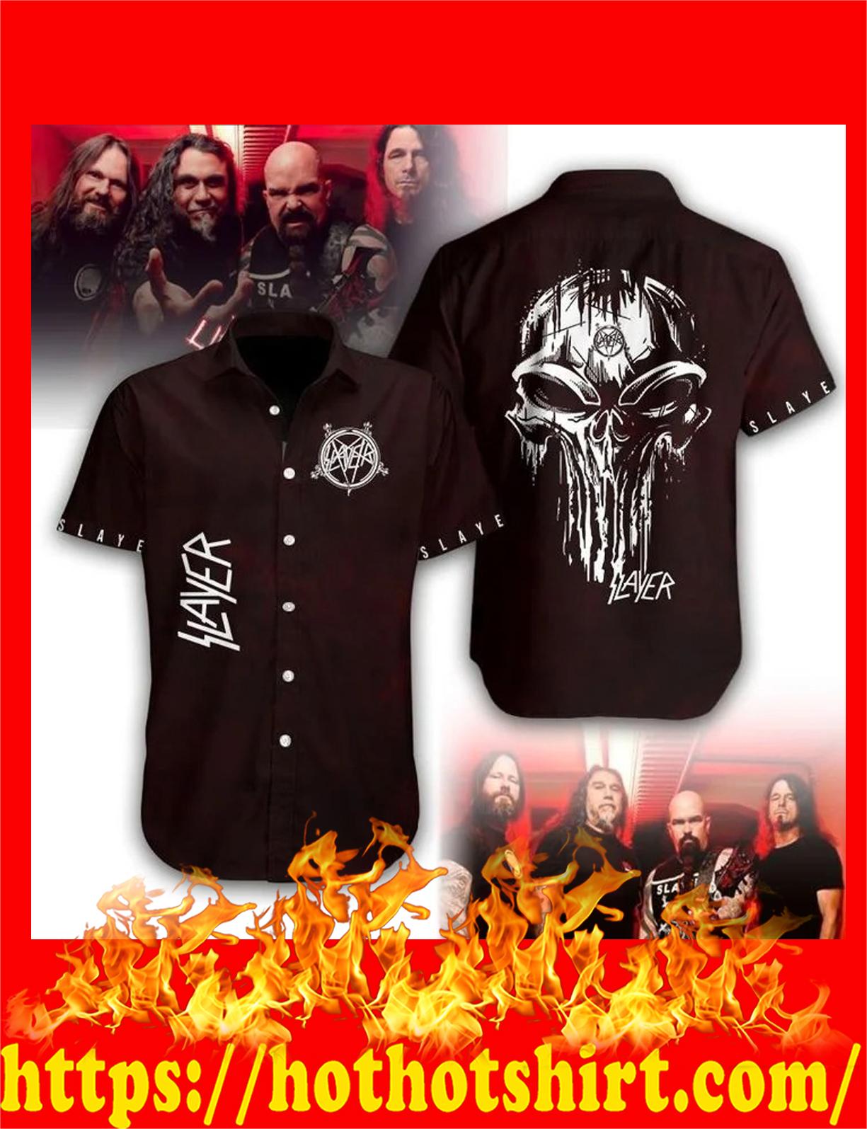 Slayer skull hawaiian shirt - detail