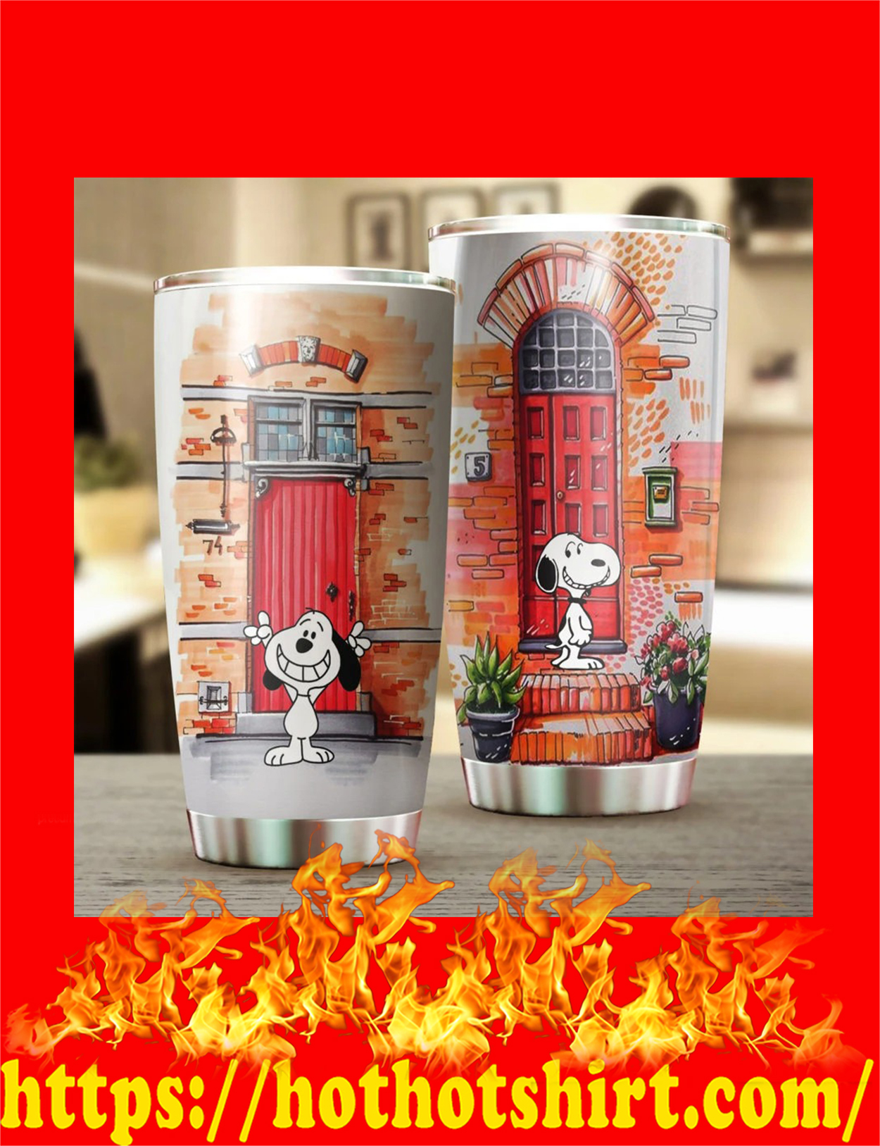 Snoopy door tumbler - detail
