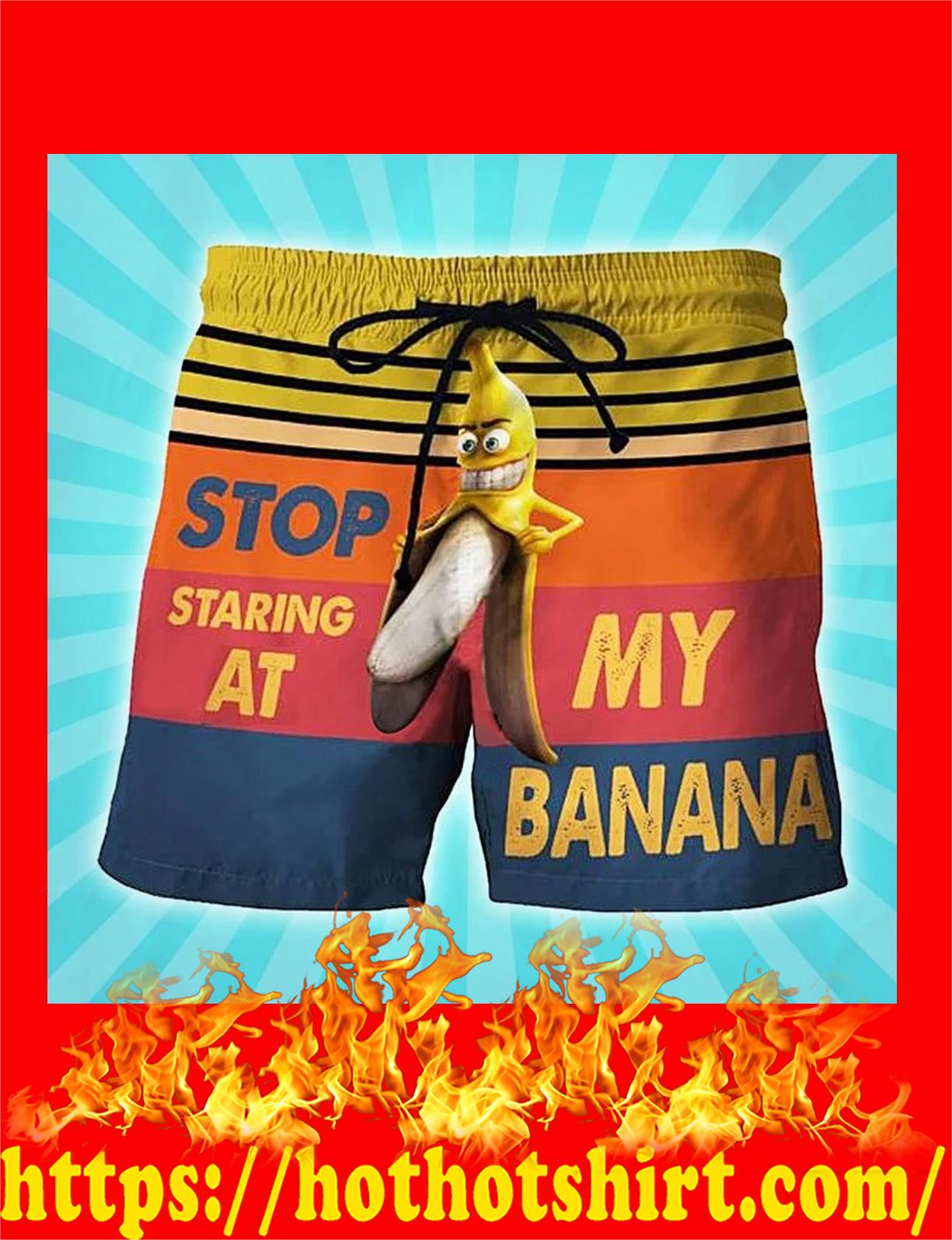 Stop staring at my banana short - detail