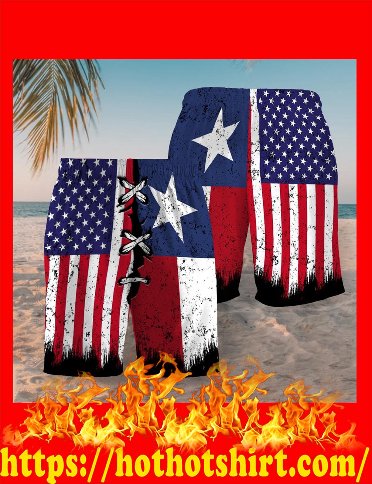 Texas american flag short