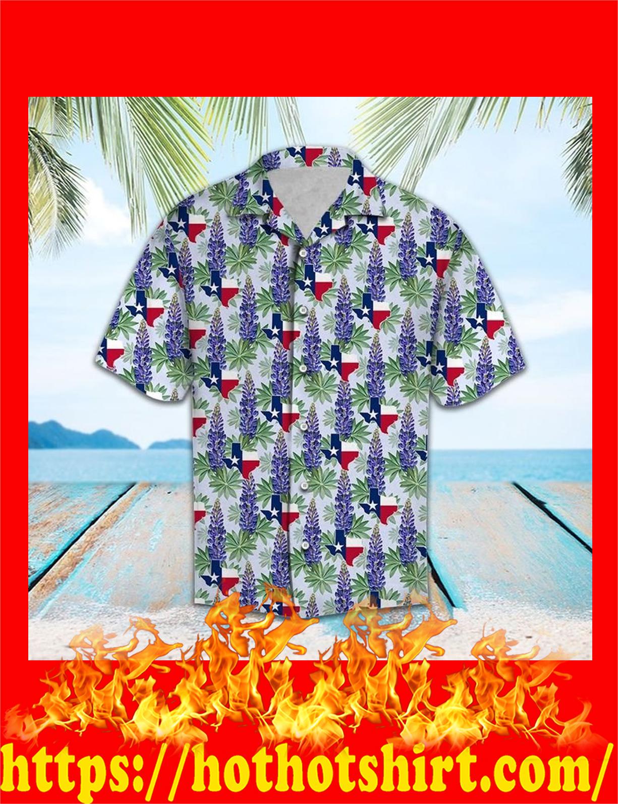 Texas bluebonnet hawaii shirt - detail