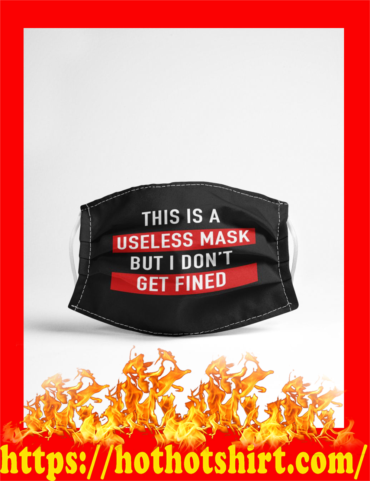 This is a useless mask but i don't get fined face mask - detail