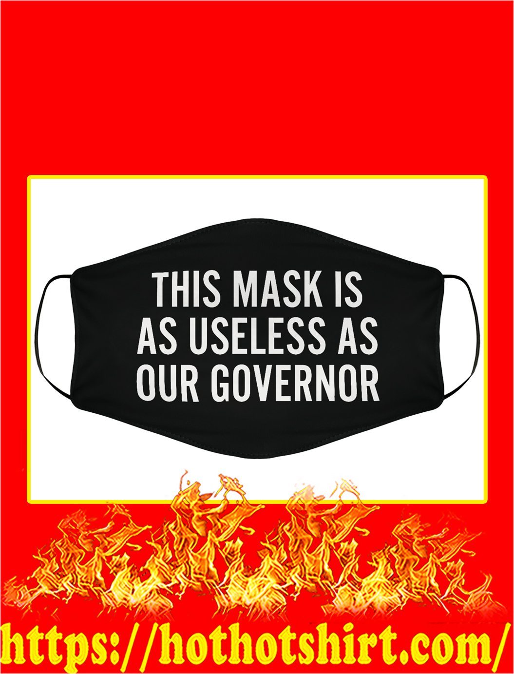 This mask is as useless as our governor face mask - pic 1