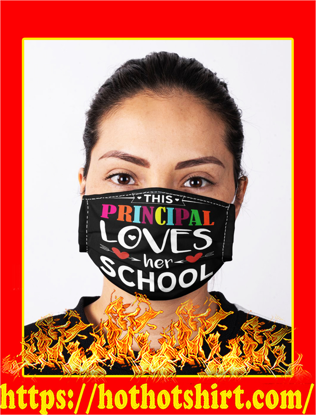 This principal loves her school face mask- pic 1