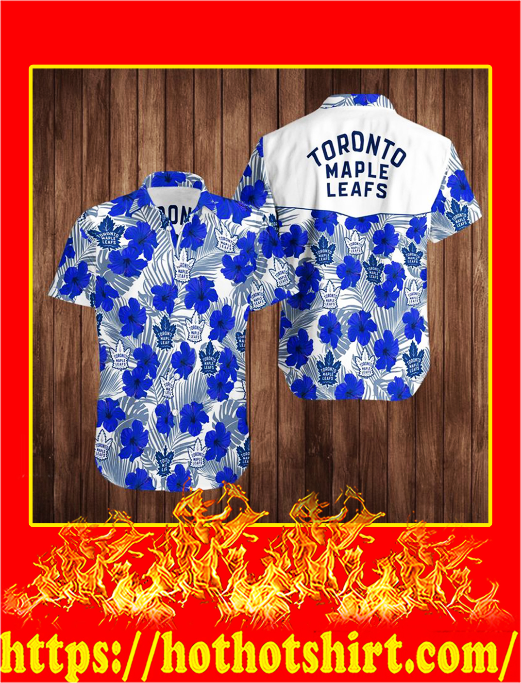 Toronto maple leafs hawaiian shirt - M