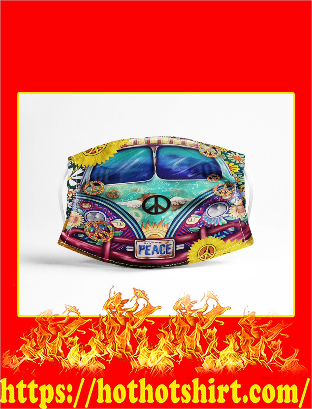 Volkswagen bus peace face mask- pic 1
