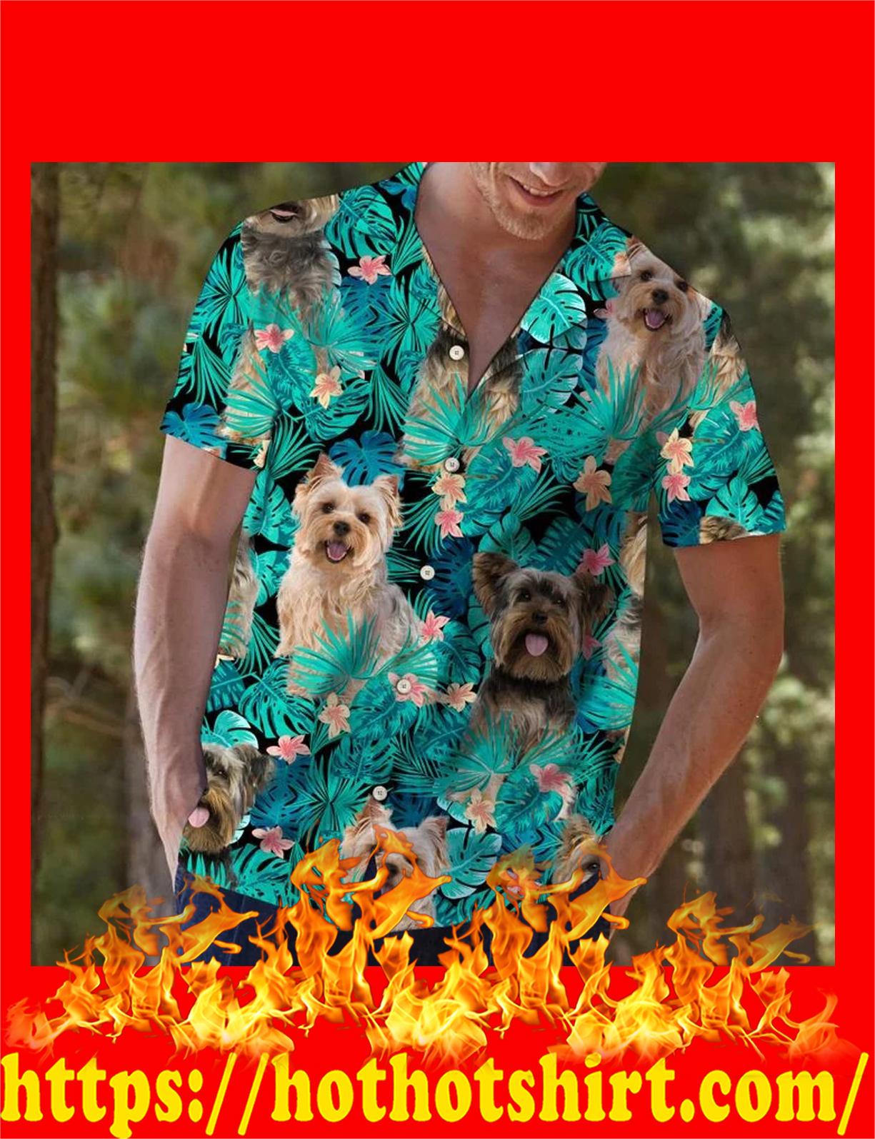 Yorkshire terrier tropical hawaiian shirt