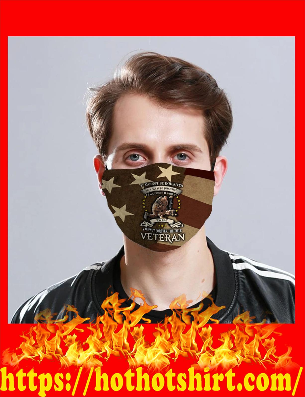 i own forever the title veteran face mask - detail