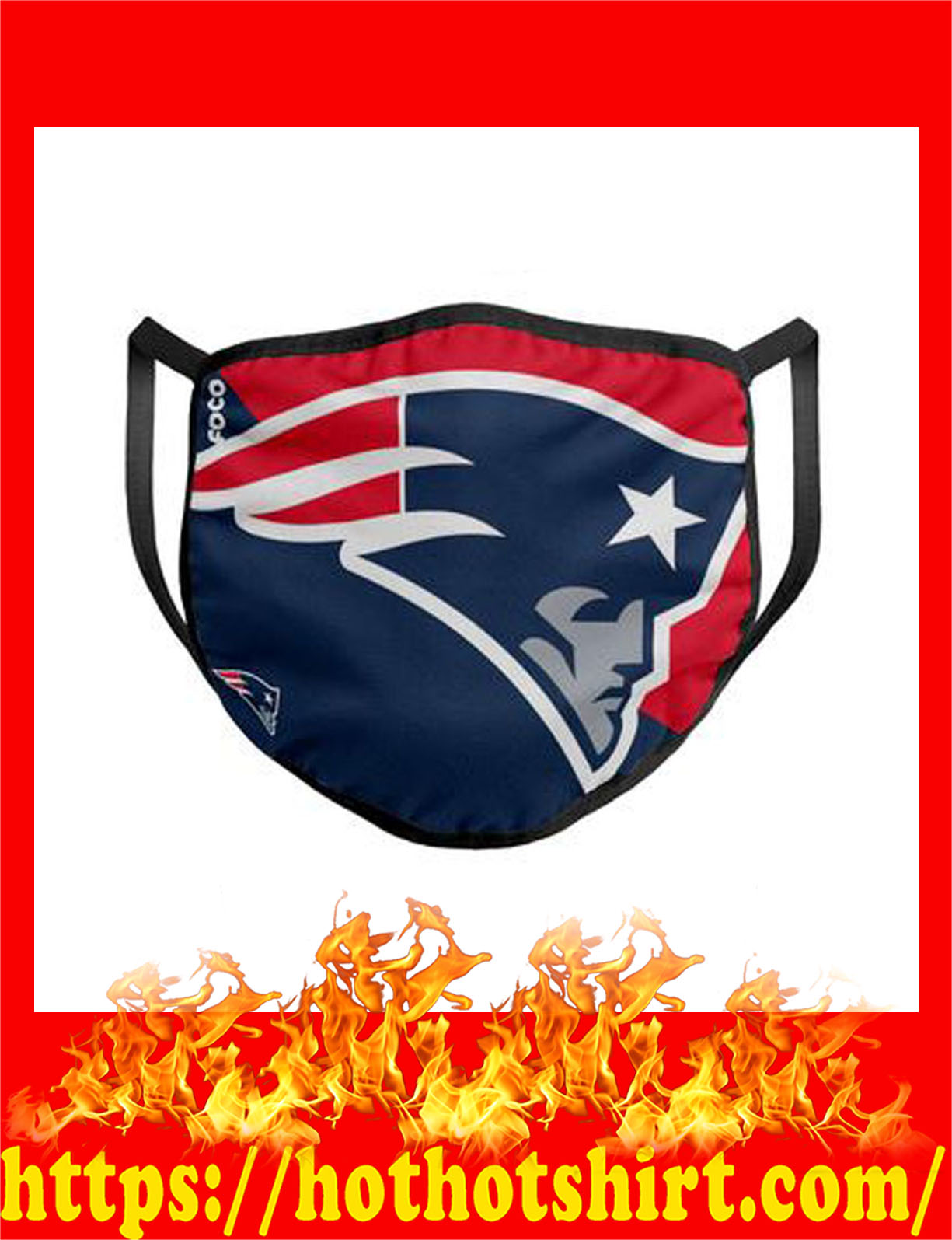 new england patriots nfl cloth mask - detail