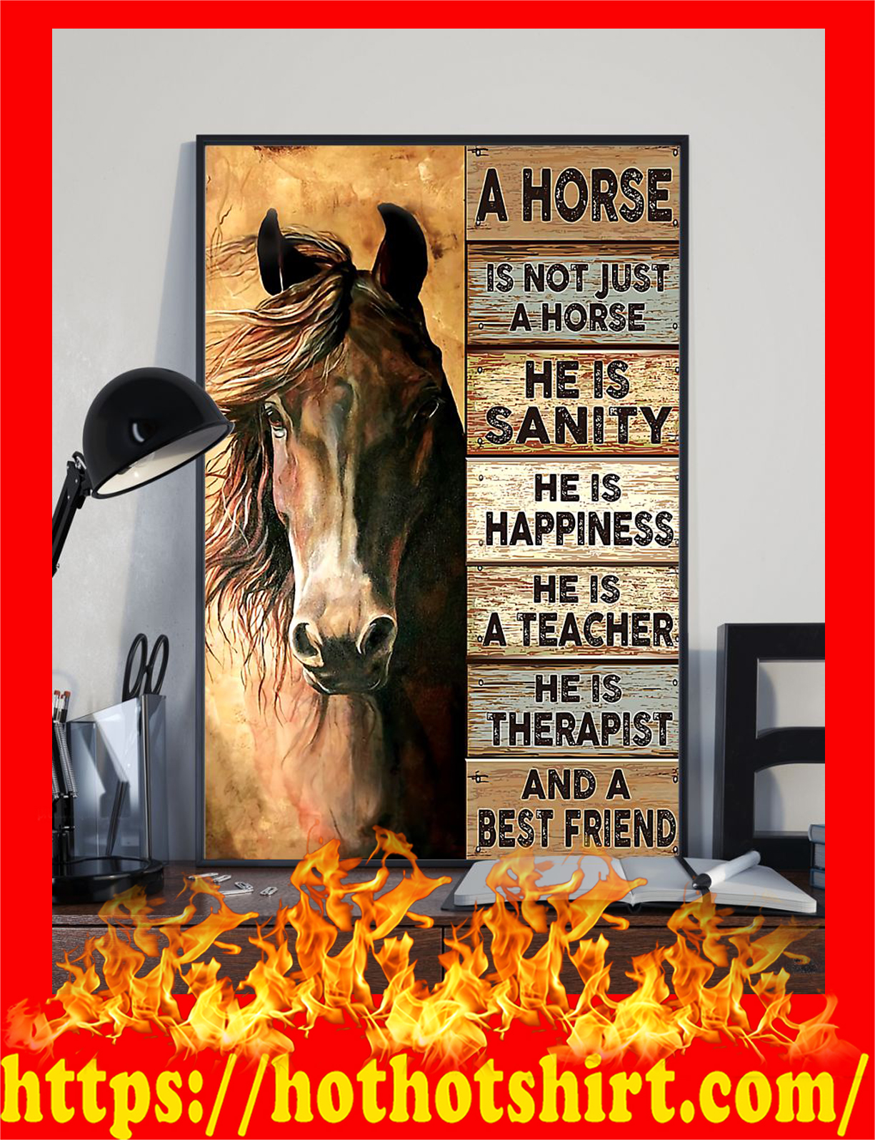 A horse is not just a horse and a best friend poster - Pic 1
