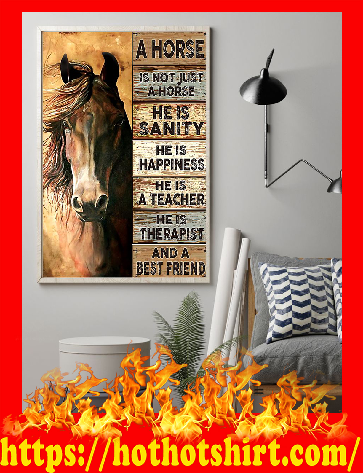 A horse is not just a horse and a best friend poster - Pic 2