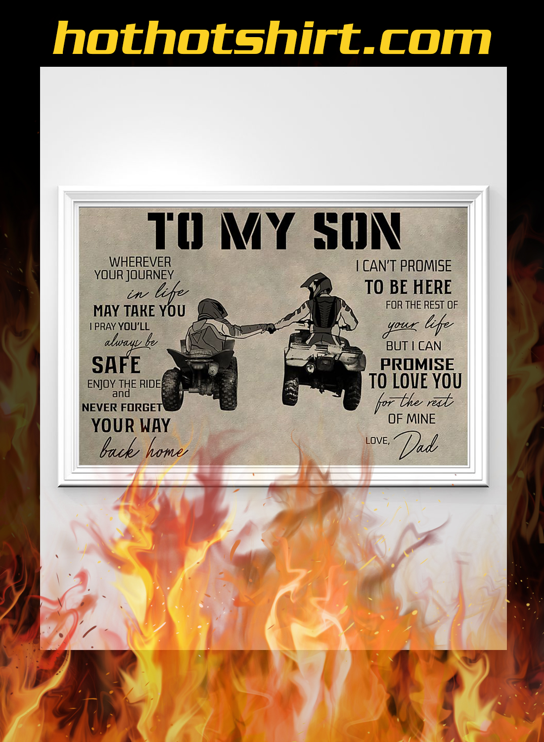 ATV to my son dad poster 2