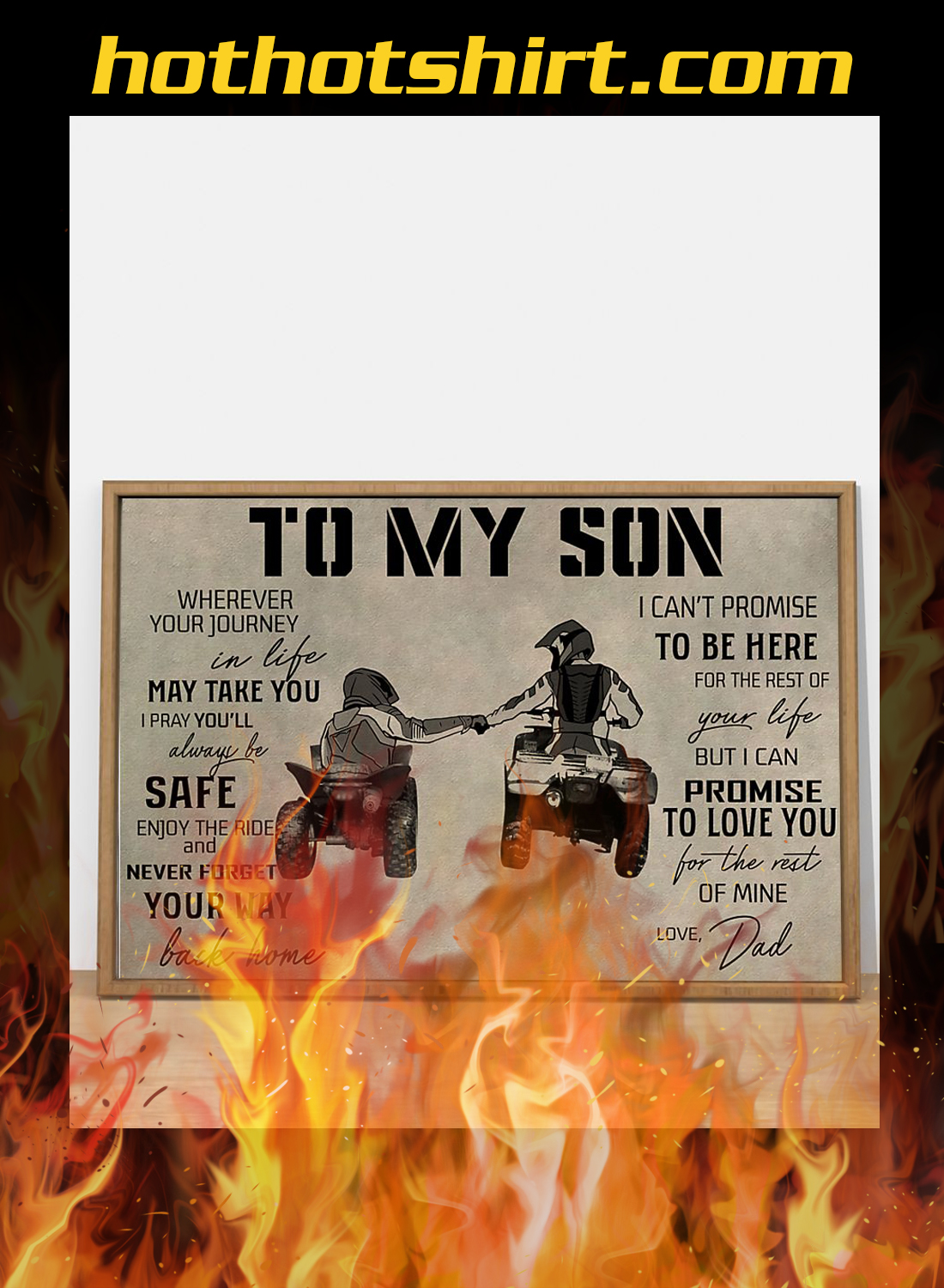 ATV to my son dad poster 3